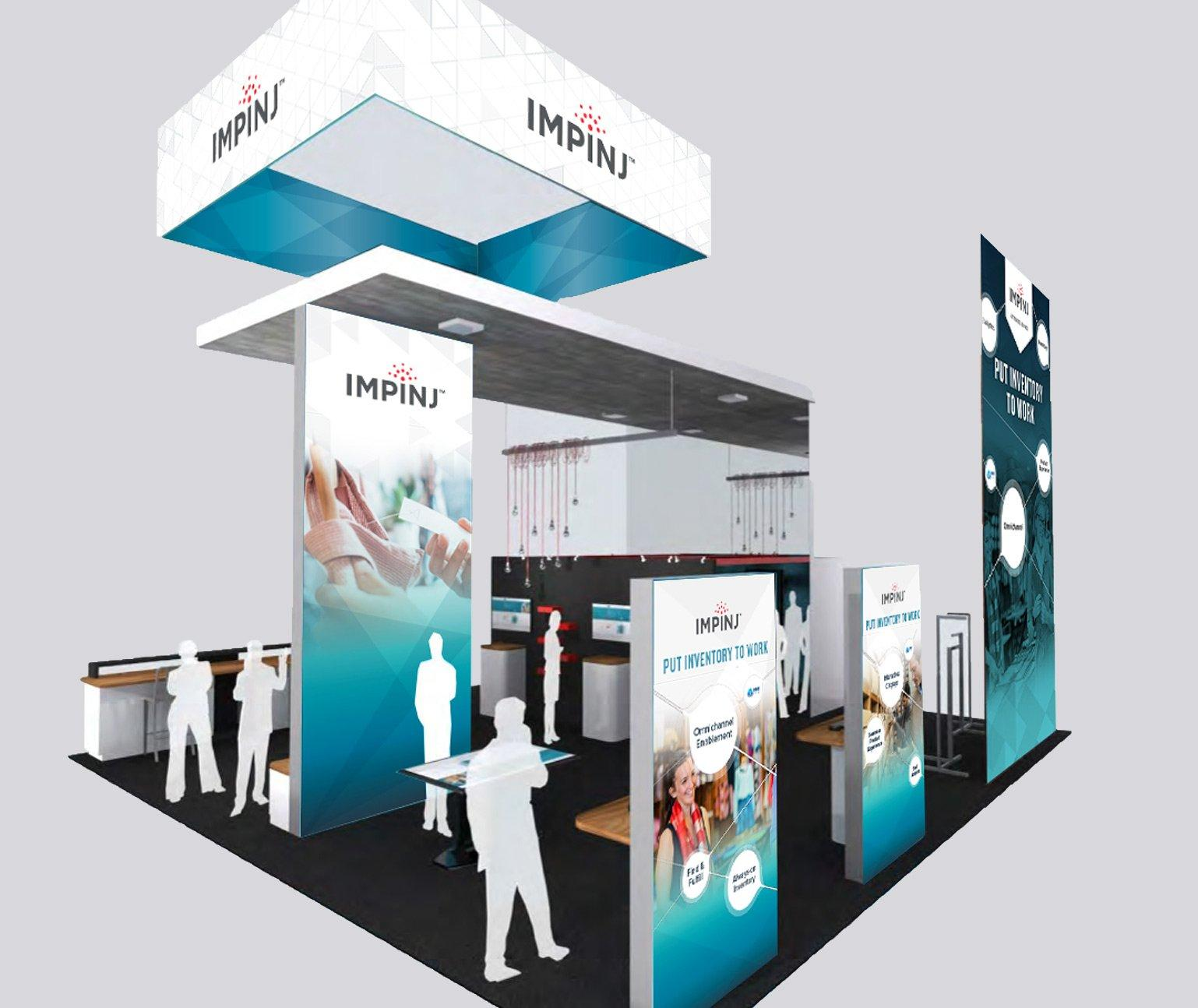 Impinj tradeshow booth in 3D rendering