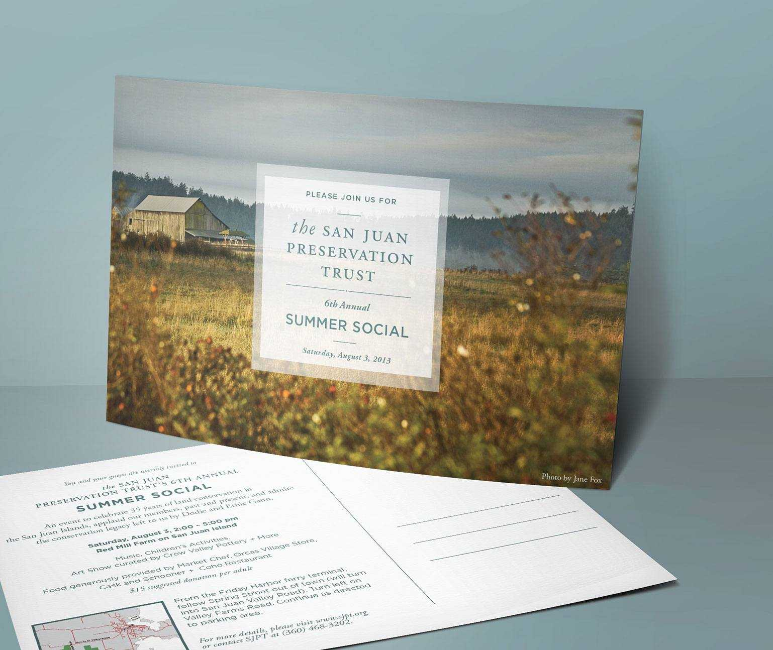 Postcard direct mail design front and back