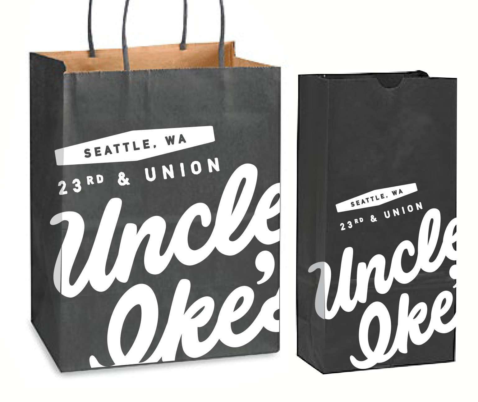 Uncle Ike's retail shopping bags